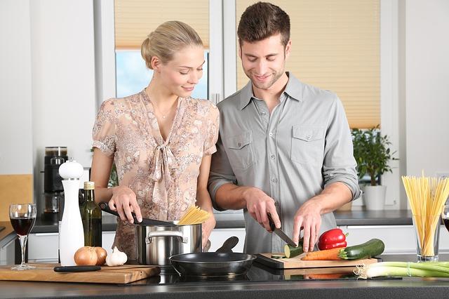kochen mit dem richtigen Set